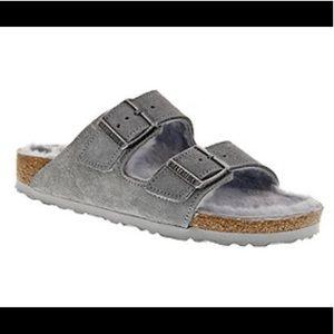 Birkenstock Sandals Arizona Suede Slides 10 Gray